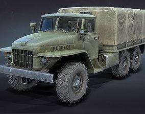 3D model Ural-375 Flatbed