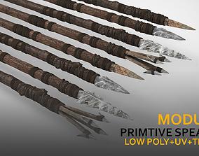 3D asset Modular Primitive Spear Set 15pc