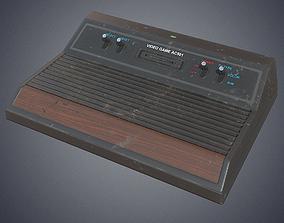 Retro video console 3D model