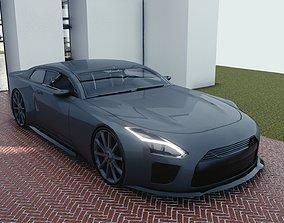 3D asset VR / AR ready BLENDER EEVEE Brandless Sports GT