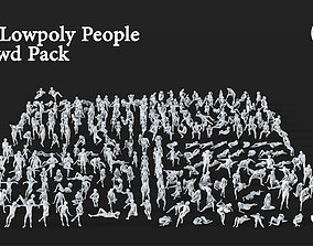 282 Lowpoly People Crowd Pack Set-09 3D