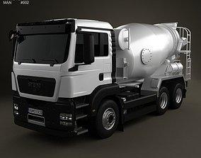 3D model MAN TGS Mixer Truck 3-axis 2012