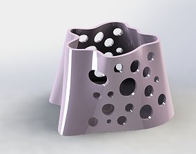 3D printable model Organic Pen Holder Crater