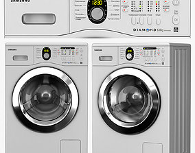 washing machine Samsung WF8592FFS 3D