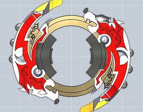 wow Beyblade Attack ring- Driger GT 3D print model