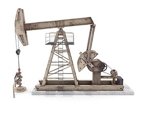 Oil Pumpjack Weathered 3 3D asset