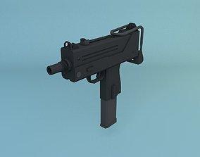 3D model Low Poly Ingram MAC-10