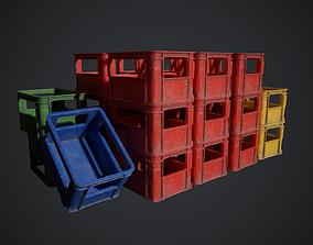 3D model low-poly Plastic crate