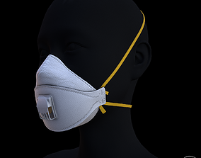 3D model Ffp3 -N95 Covid mask