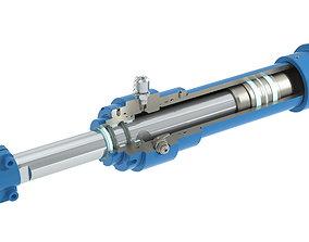 3D Hydraulic cylinder 63x45x250