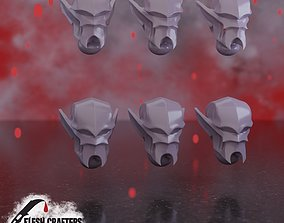 3D model Cabal Legion Head and weapon bit Lot
