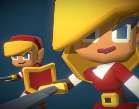 Elf Hero Character - Smashy Craft 3D asset