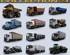 3D asset Trucks Collection