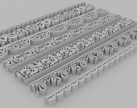 3D model Ornate Divides 01 - Set of 7 Varitions