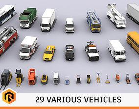 3D asset realtime 29 HQ Vehicles - Mega Collection