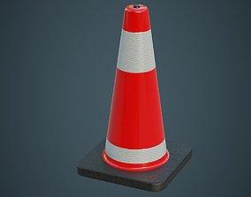 3D asset Traffic Cone 5A