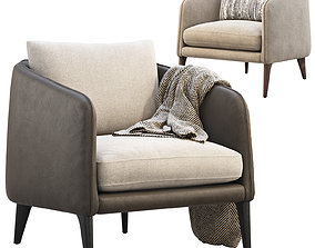 Rhys Bench Seat Chairs 2 options 3D
