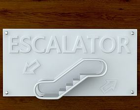 3d Printable Escalator sign STL OBJ