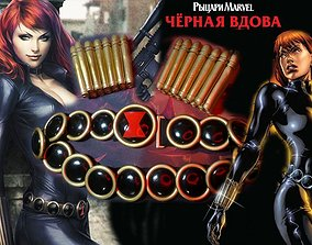 Marvell Black Widow cosplay accessories 3D printable model