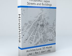 architectural Hiroshima Streets and Buildings 3D model