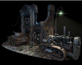 3D asset Street Battle 02