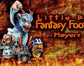 Little bad fantasy football players 3D