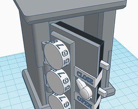 3D printable model MECHANICAL SAFE WITH CODED LOCK USB 1