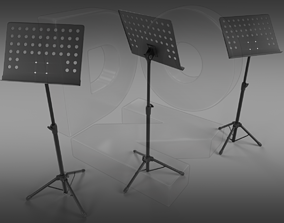 3D model rigged Music stand