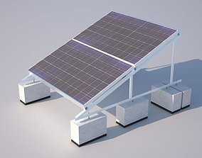 Solar Installation accurate and actual 3D model 1