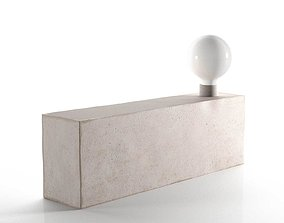 3D model Modern Raw Concrete Lamp