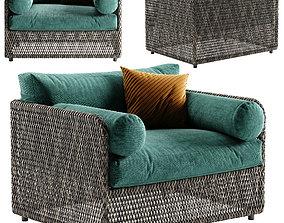 3D model West Elm Coastal armchair