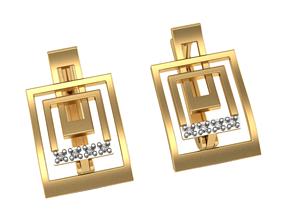 3D printable model Geometric earrings