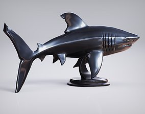 3D printable model underwater Shark