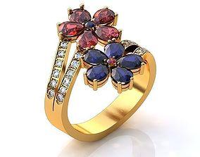3D Flower Ring BK078