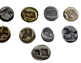 various Ancient Coin 3D