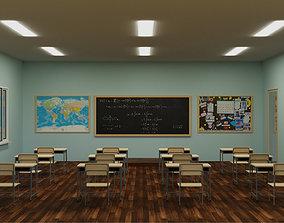 Classroom 3D asset