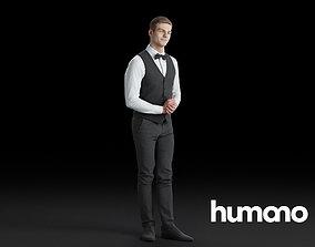3D model Humano Waiter man 0619