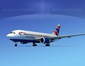 Boeing 767-200ER British Airways 1 3D model