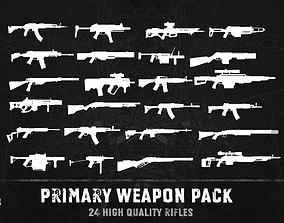 3D model Primary weapon pack