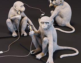 The Monkey Lamp Sitting Version 3D asset