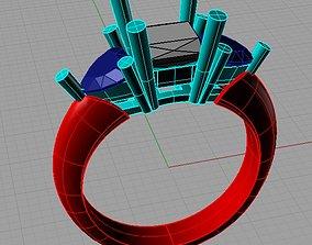Fine Jewelry Women Trilogy Ring 3D print model 2