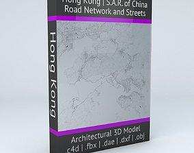 Hong Kong Road Network and Streets 3D model