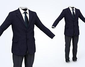 Business Suit Man 3D asset low-poly