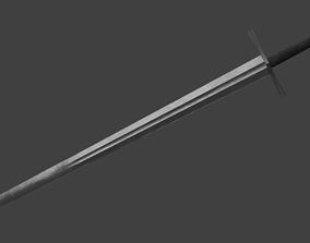 Romanesque Sword Medieval European 3D asset