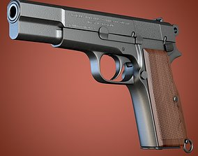 Browning Hi-Power pistol 3D model