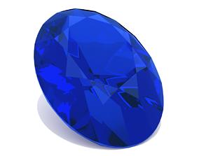 Sapphire Gem - Oval Cut 3D printable model