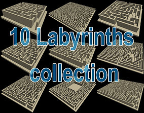 3D print model 10 labyrinths collection