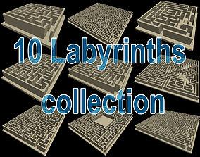3D print model 10 labyrinths collection
