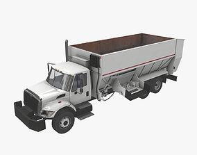 Box Mixer Truck International 7400 3D model