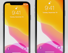 Apple iPhone 11 Pro and iPhone 11 Pro Max 3D model